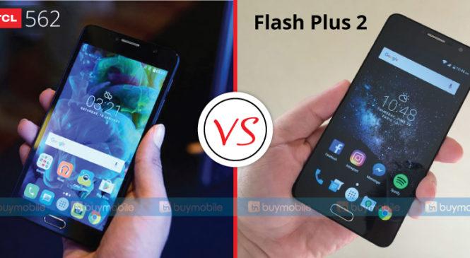 mobile phone comparison, TCL 562 vs Alcatel Flash plus 2