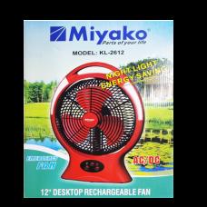 Miyako Rechargeable Fan