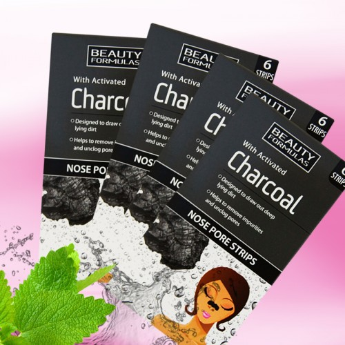 Beauty Formulas Charcoal Nose Pore Strips (With Activated Charcoal ) 6 Strips
