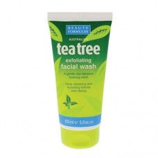 Beauty Formulas Tea Tree Exfoliating Facial Wash