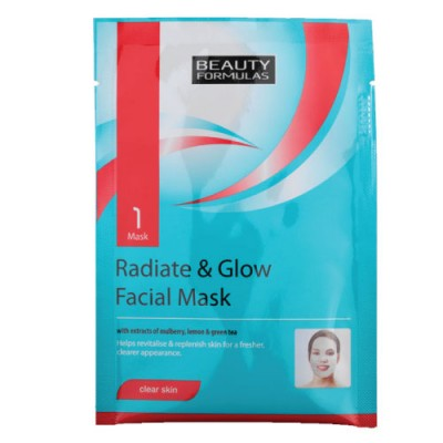 Beauty Formulas Radiate & Glow Facial Mask- Clear Skin