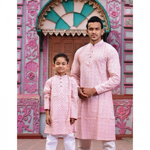 Men's and Kids Panjabi Payjama Set