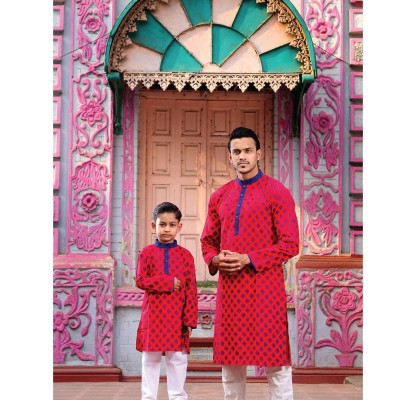 Men's and Kids Panjabi Payjama Set