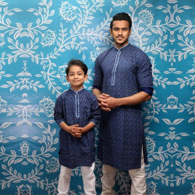 Men's and Kids Panjabi Payjama Set Combo 12